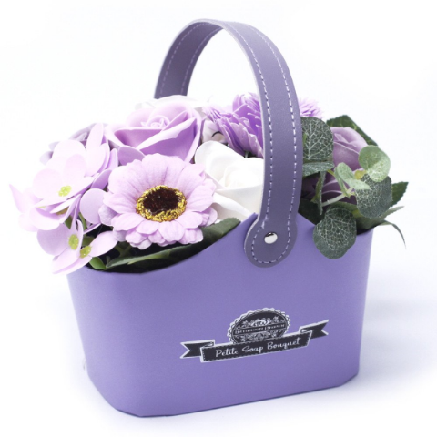 Soft Lavender Soap Bouquet Petite Basket